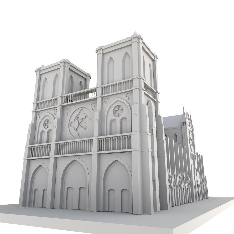 Notre Dame De Paris do druku 3D royalty-free 3d model - Preview no. 2