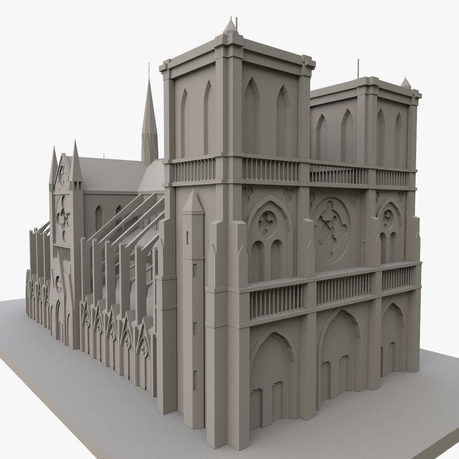 Notre Dame De Paris do druku 3D royalty-free 3d model - Preview no. 5