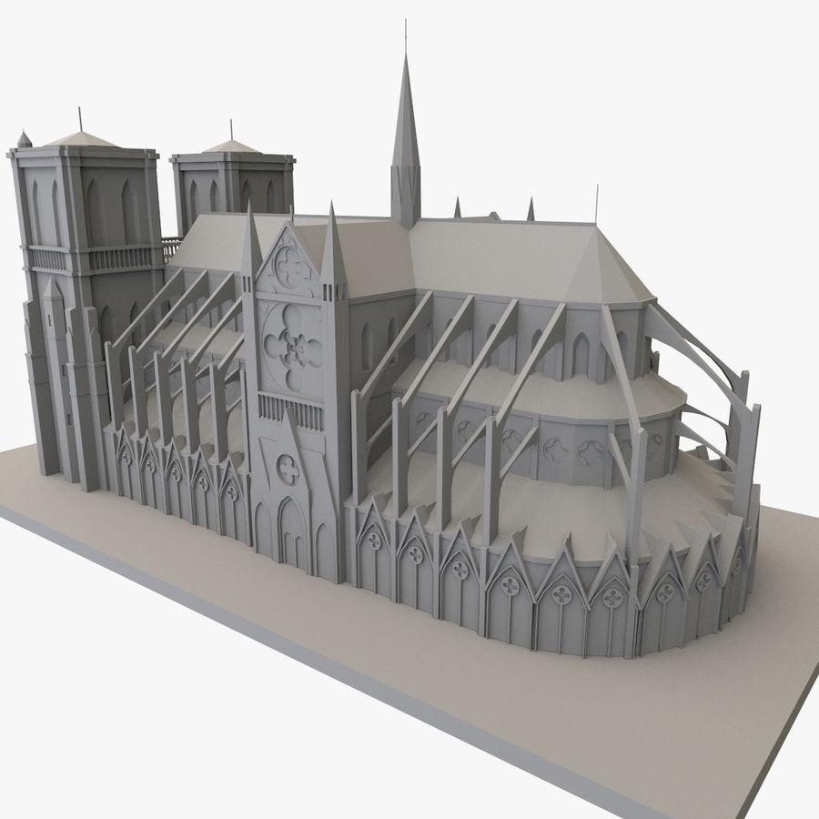 Notre Dame De Paris do druku 3D royalty-free 3d model - Preview no. 3