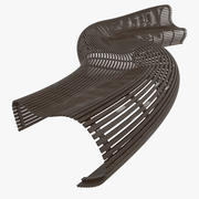 Parametric Abstract Wood Bench Like MP 3d model