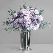 Florero de Rosas Lavender Europe modelo 3d