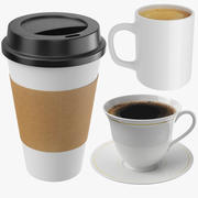 Coffee Cups Collection 3d model