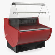 Display curvo carne supermercato 3d model