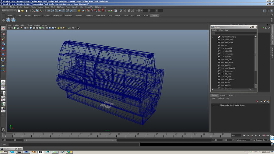 Supermarkt Lebensmittel Display royalty-free 3d model - Preview no. 21
