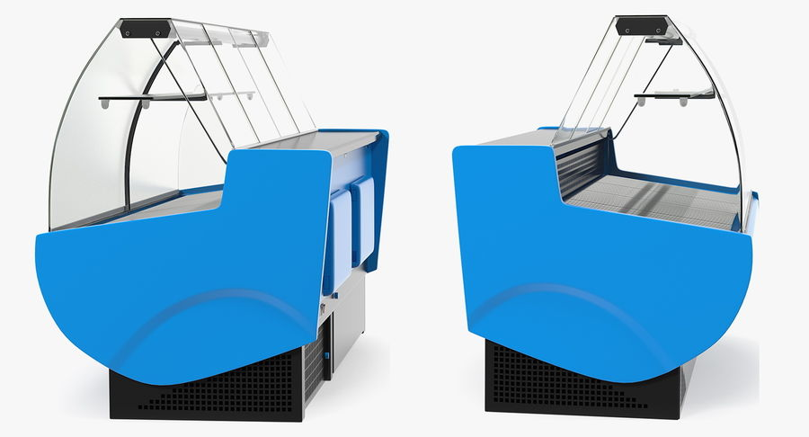Supermarkt Lebensmittel Display royalty-free 3d model - Preview no. 7