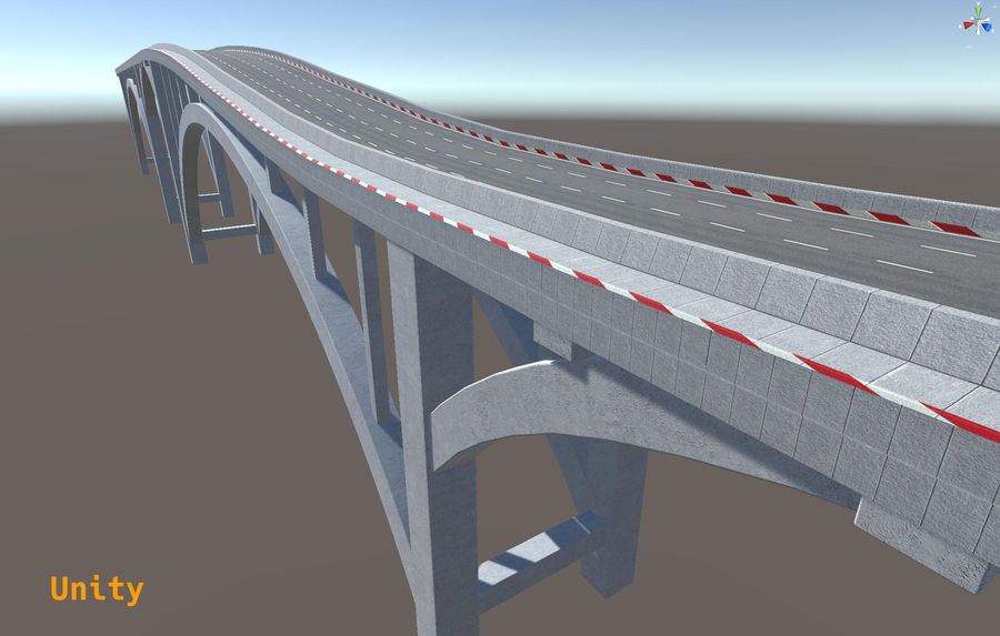 Modular Bridge royalty-free 3d model - Preview no. 12
