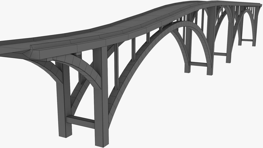 Modular Bridge royalty-free 3d model - Preview no. 19