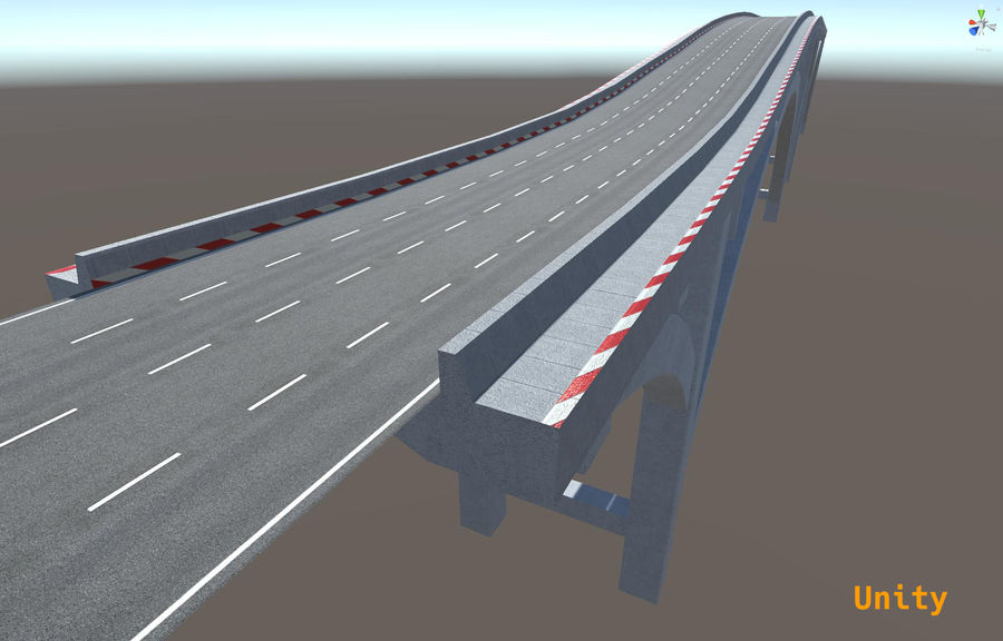 Modular Bridge royalty-free 3d model - Preview no. 8