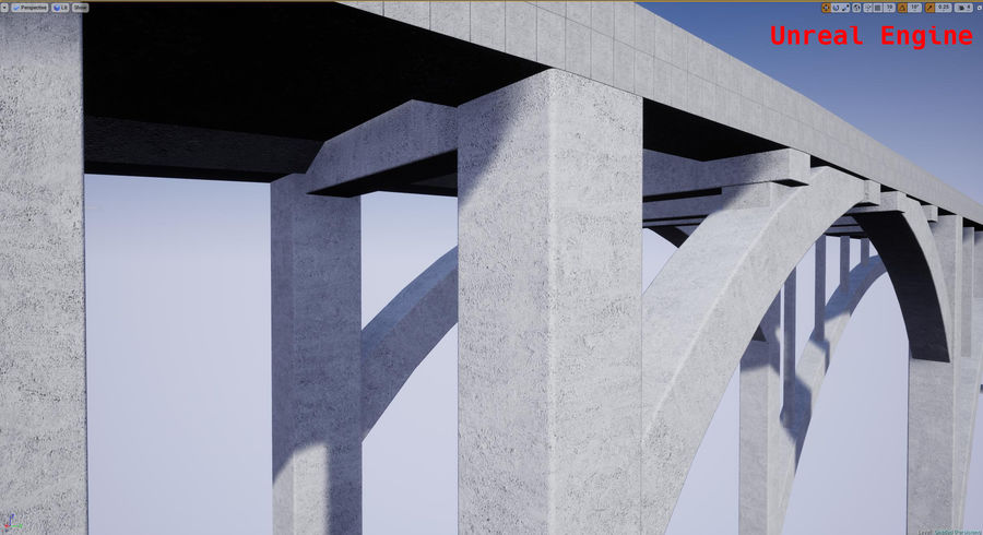 Modular Bridge royalty-free 3d model - Preview no. 15