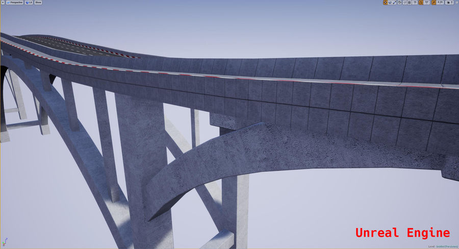 Modular Bridge royalty-free 3d model - Preview no. 18