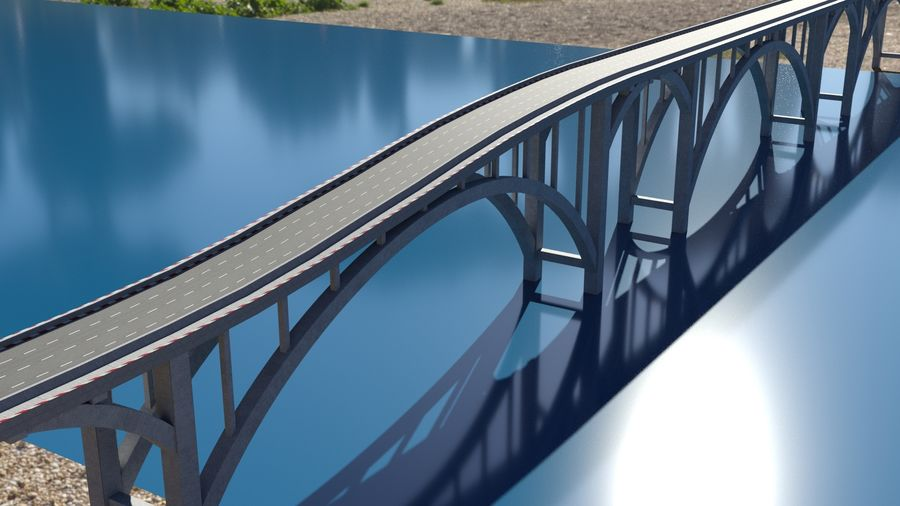 Modular Bridge royalty-free 3d model - Preview no. 3