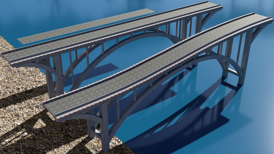 Modular Bridge royalty-free 3d model - Preview no. 7