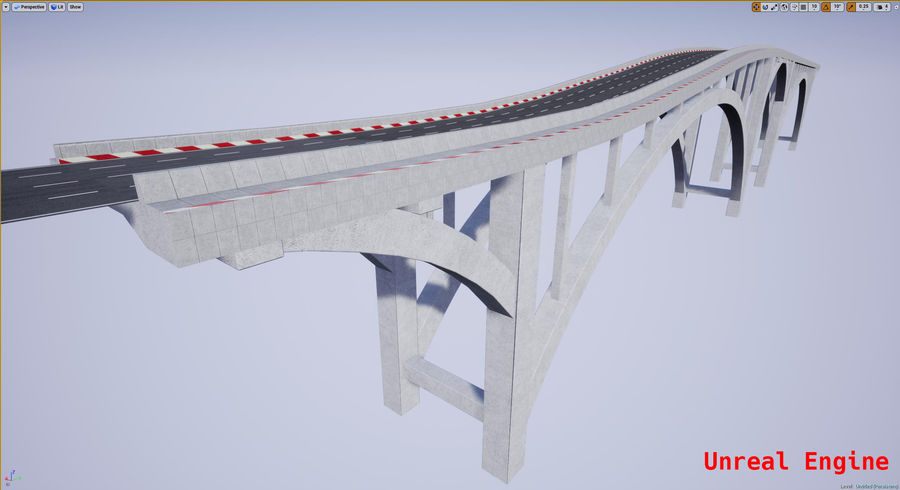 Modular Bridge royalty-free 3d model - Preview no. 13
