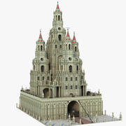 塔城堡 3d model
