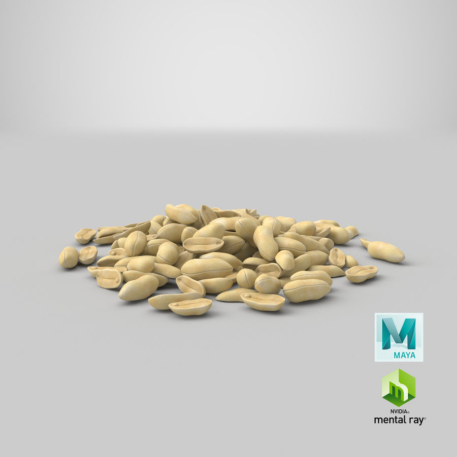 Peeled Peanut Pile royalty-free 3d model - Preview no. 24