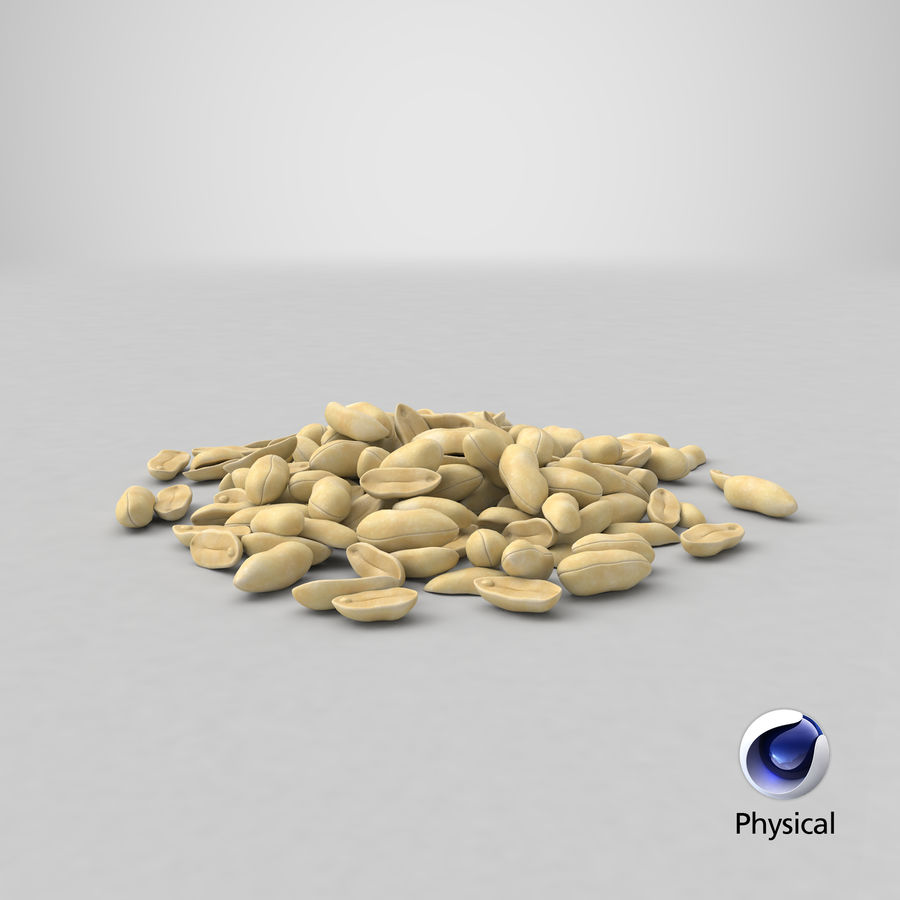 Peeled Peanut Pile royalty-free 3d model - Preview no. 27
