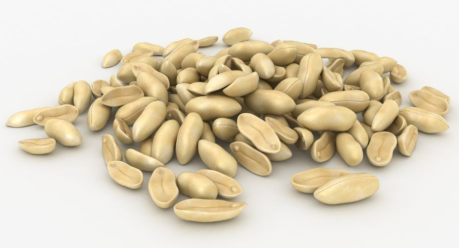 Peeled Peanut Pile royalty-free 3d model - Preview no. 5