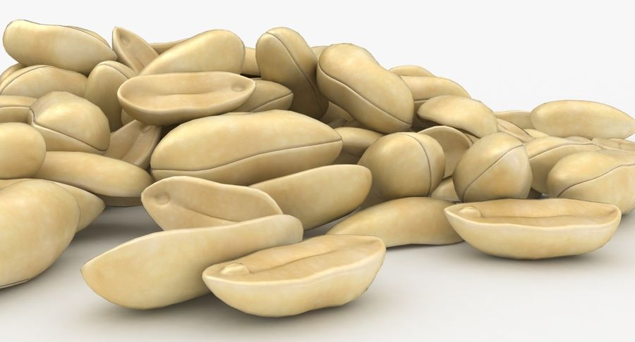 Peeled Peanut Pile royalty-free 3d model - Preview no. 12