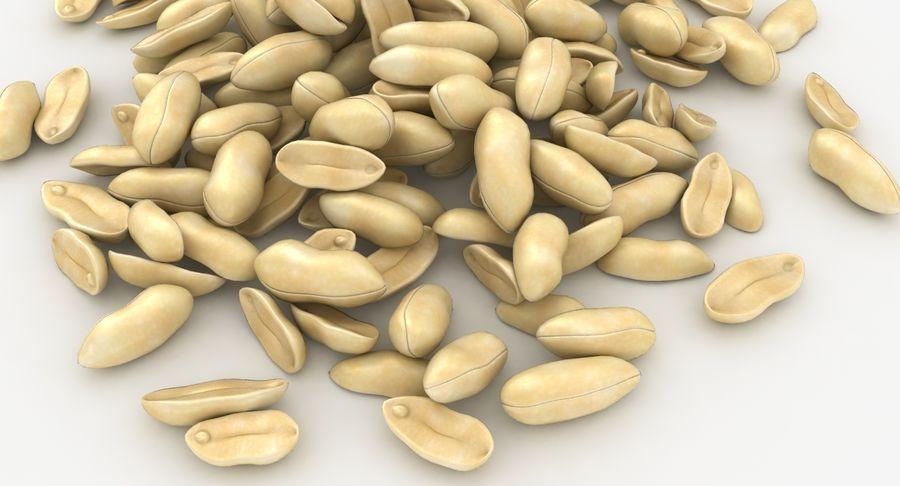 Peeled Peanut Pile royalty-free 3d model - Preview no. 8