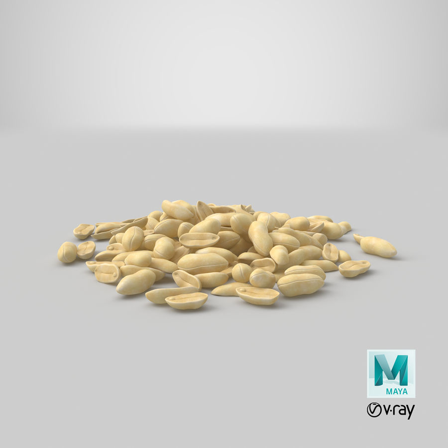 Peeled Peanut Pile royalty-free 3d model - Preview no. 23