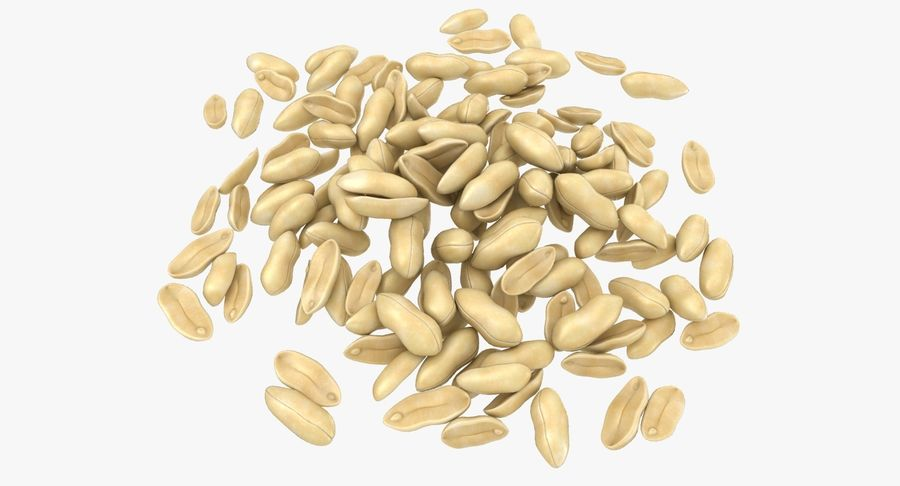 Peeled Peanut Pile royalty-free 3d model - Preview no. 2
