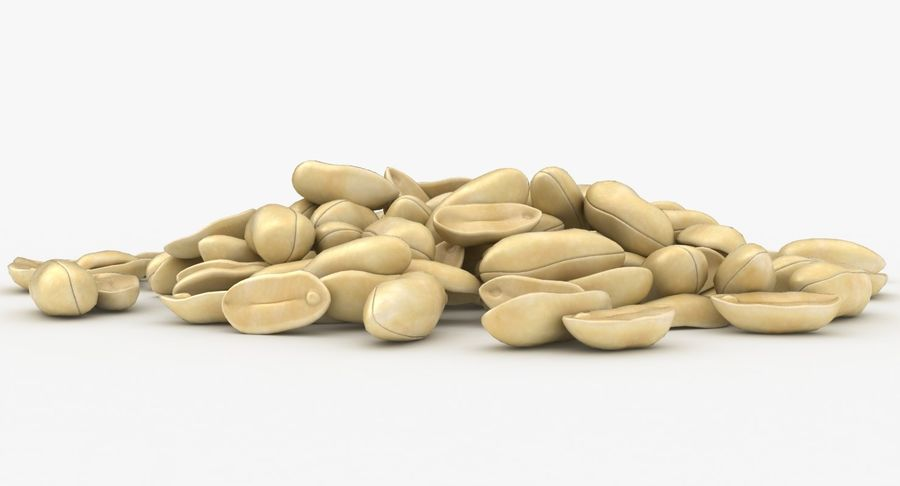 Peeled Peanut Pile royalty-free 3d model - Preview no. 7