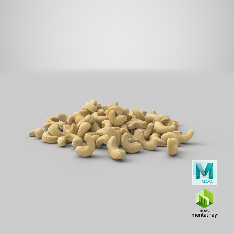 Cashew Pile royalty-free 3d model - Preview no. 24