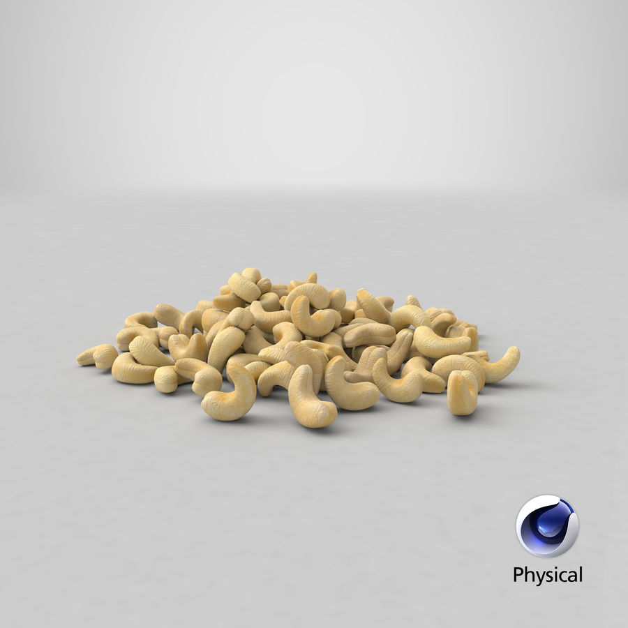 Cashew Pile royalty-free 3d model - Preview no. 27