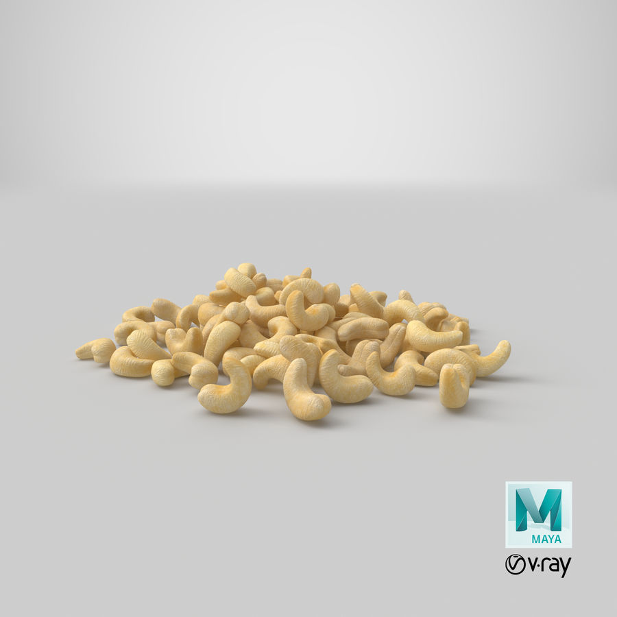 Cashew Pile royalty-free 3d model - Preview no. 23