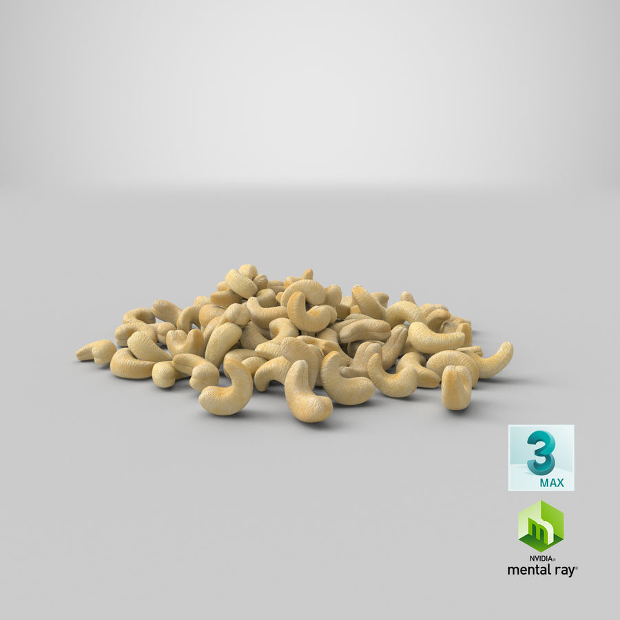 Cashew Pile royalty-free 3d model - Preview no. 26