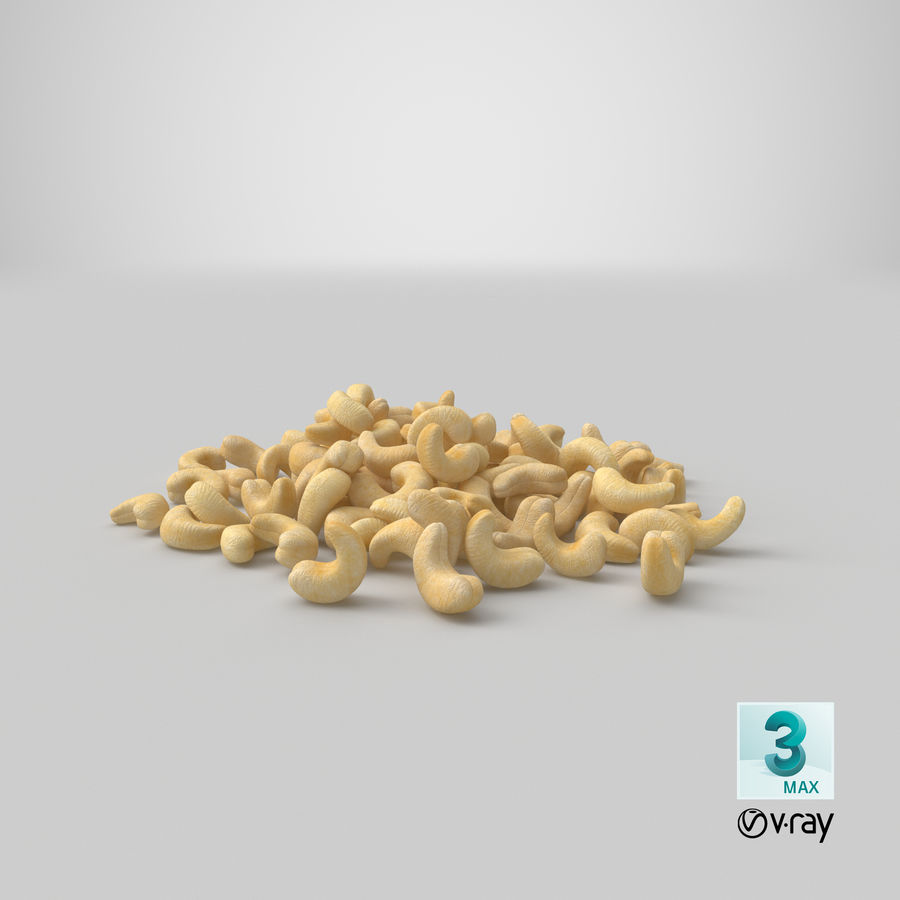 Cashew Pile royalty-free 3d model - Preview no. 25