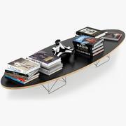 타원형 테이블 ETR 3d model