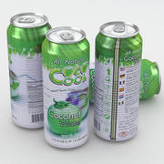 Coco Cool Coconut Water Drink Can 500ml 3d model