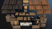 Wood Build Construct Collection - Modular Game ready props 3d model