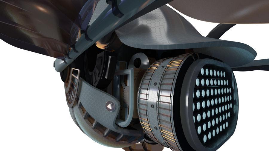 gevleugeld ruimteschip royalty-free 3d model - Preview no. 4