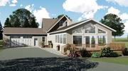 Country Ranch House met Deck en Garage 3d model