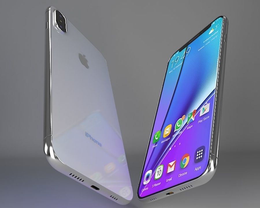 苹果手机 royalty-free 3d model - Preview no. 5