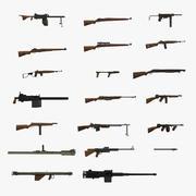 第二次世界大戦アメリカ銃コレクション 3d model