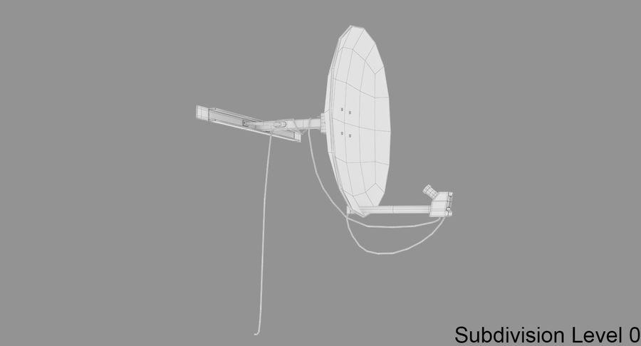 Satellite Dish royalty-free 3d model - Preview no. 10