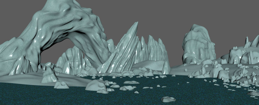 Arctic Environment royalty-free 3d model - Preview no. 12