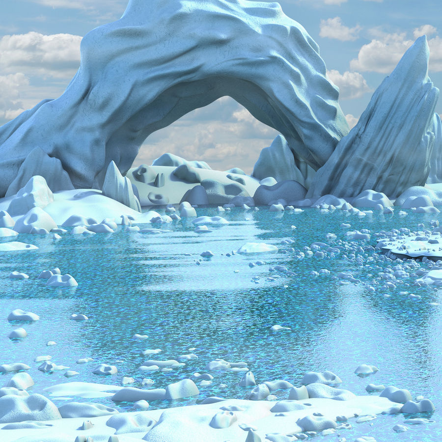 Arctic Environment royalty-free 3d model - Preview no. 7