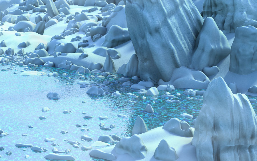 Arctic Environment royalty-free 3d model - Preview no. 6