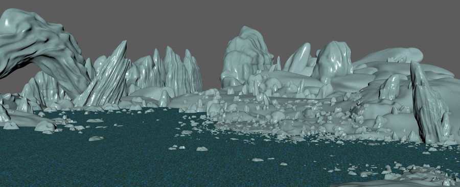 Arctic Environment royalty-free 3d model - Preview no. 10