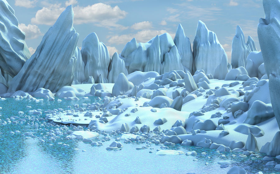 Arctic Environment royalty-free 3d model - Preview no. 5