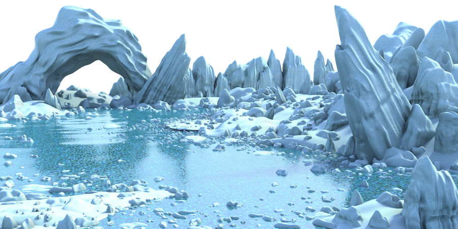 Arctic Environment royalty-free 3d model - Preview no. 2