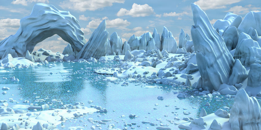 Arctic Environment royalty-free 3d model - Preview no. 1