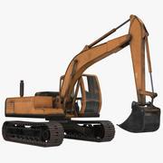 Escavadeira MidPoly 3d model