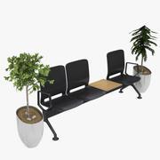 空港の椅子 3d model