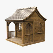 Casa de madeira velha 3d model