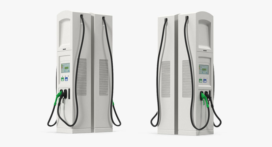 EV Charging Station royalty-free 3d model - Preview no. 8
